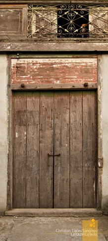 Old Doors at the Zoleta Ancestral House in Abra de Ilog