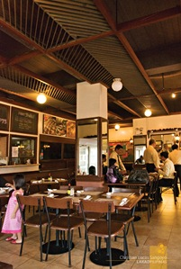The Cozy Interior of Grills & Sizzles