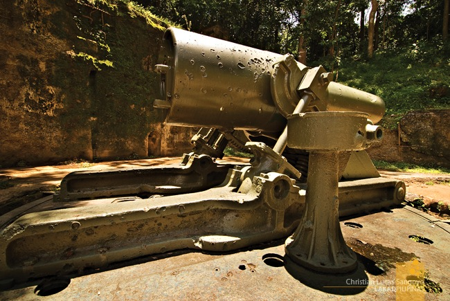 Pockmarked Battle Scars at Corregidor's Battery Way