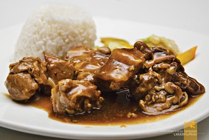 Chicken Pork Adobo at Corregidor's La Playa Restaurant