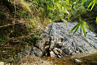 Dried Waterfalls at Wawa Dam