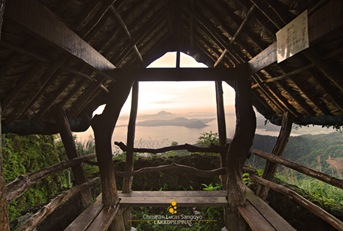 View from One of the Huts at Leslie's Tagytay