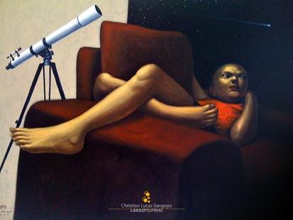 Elmer Borlongan's Comet Hyakutake at BenCab Museum