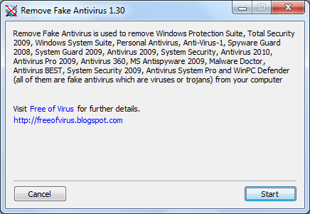 Remove popular fake antivirus from computer.