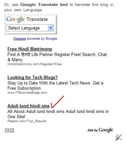 google adult ads