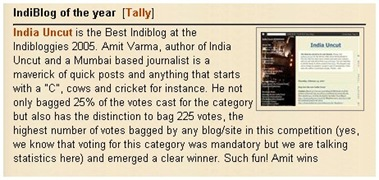 India uncut - indibloggies winner