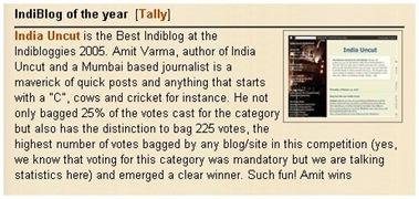 India uncut - indibloggies winner