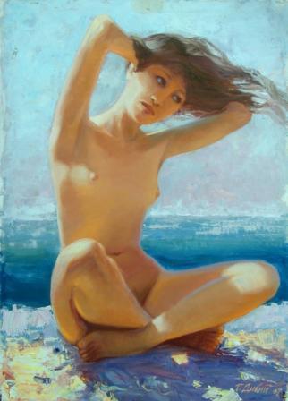 Девушка у моря ню фото 32-790