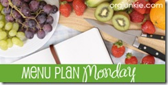 menu plan monday