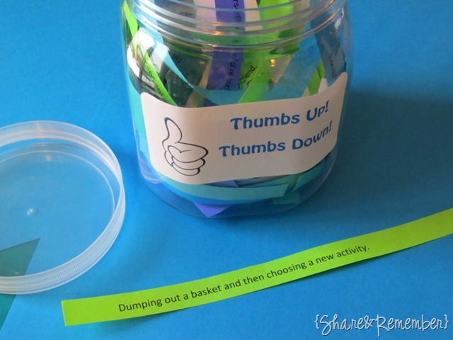 Thumbs Up! Thumbs Down! Jar