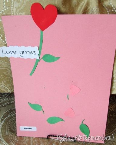Love Grows Preschool Valentine Art