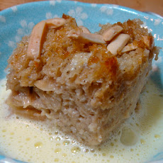 Chai Bread Pudding with Frothy Ginger Creme