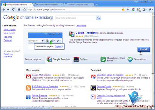Google Chrome 4.0.249.30 Beta/ Google Chrome 3.0.195.33 Stable Support Extension