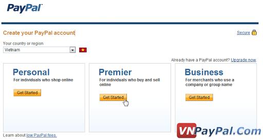 PayPal Account các loại