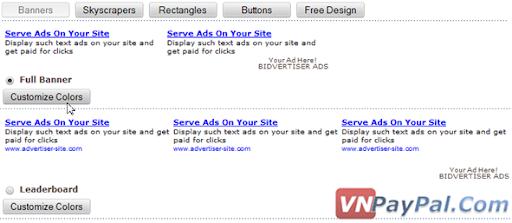 Kiếm Tiền Với Bidvertiser Trên Blog/WebSite Của Bạn