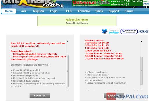 PTC - Paid To Click - Những Điều Cần Biết [Cập Nhật]
