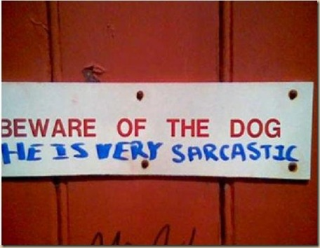 Perro sarcástico