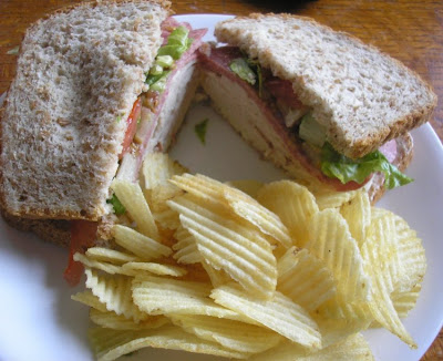turkey and salami sandwich