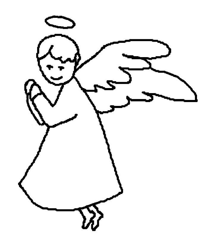 angeles colorear (5)
