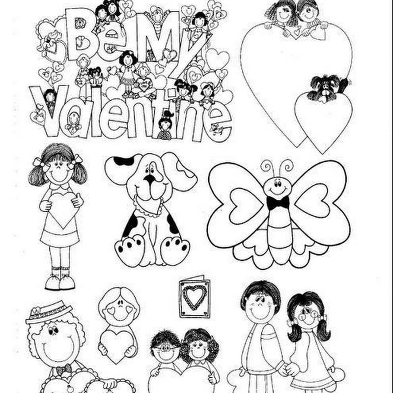Dibujos día del amor para colorear