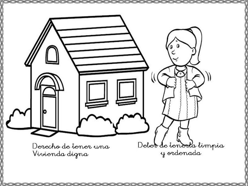 Dibujos para colorear derechos y deberes del ni o colorear dibujos infantiles - Agencias para tener estudiantes en casa ...