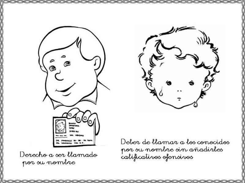Dibujos para colorear derechos y deberes del niño   Colorear ...