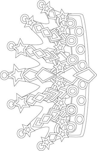 Show Me More Jubilee Crown Colouring Pages