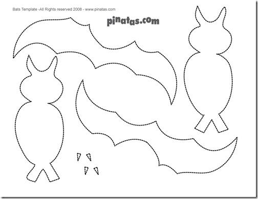 dibujar lineas a lo largo de las alas del murcielago para acabar ...