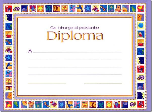 Diplomas escolares para imprimir   Colorear