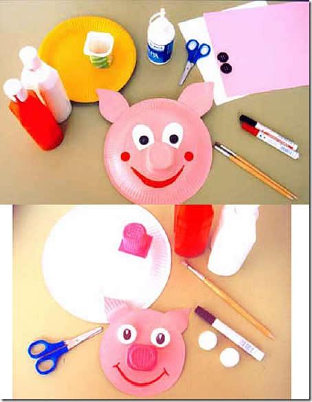 cerditos plato - blogcolorear.com