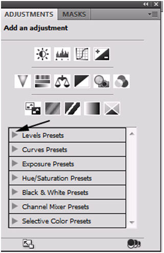 Adjustment List Presets