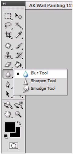 Blur, Sharpen, Smudge Toolbox