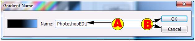 Renaming Gradient Dialog Box
