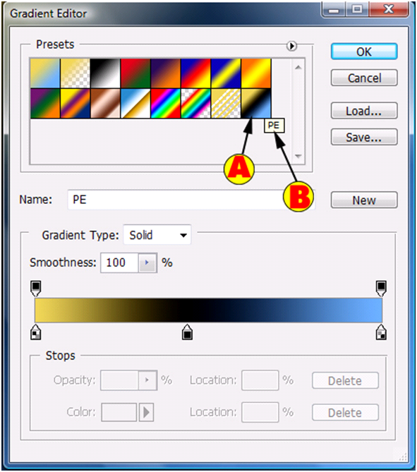 New Gradient Preset Preview