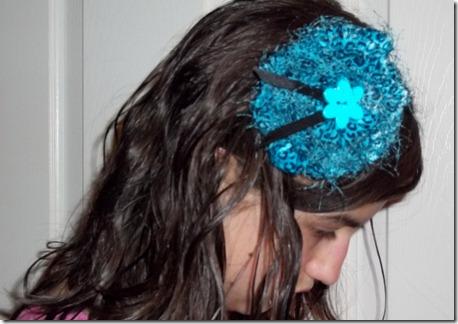 Headband Aqua Leopard