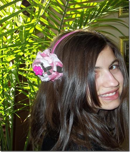 Headband Pink Camo