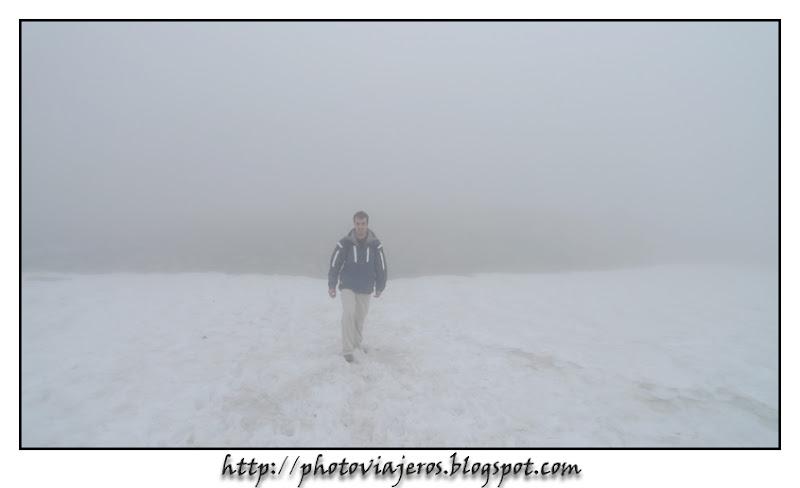 Niebla y nieve en peñalara