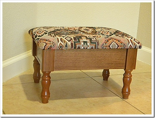 Old footstool