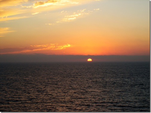 October sunset - somewhere off the pacific ocean