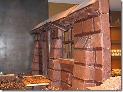 Брюгге: шоколадная стена.