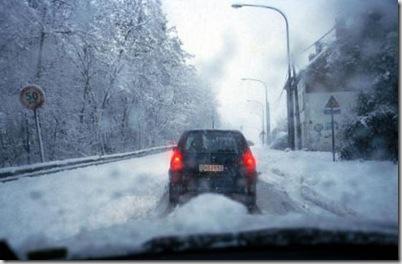 Снег в Бельгии.