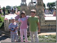 Дети довольны посещением Мини-Европы
