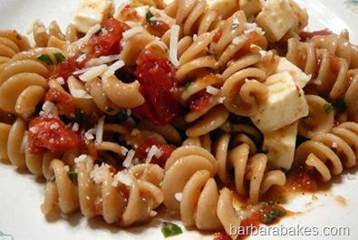 Roasted Tomato Pasta Caprese