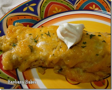 Creamy Chicken and Green Chili Enchiladas