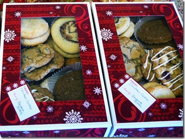 Cookie boxes for neighbors and friends.