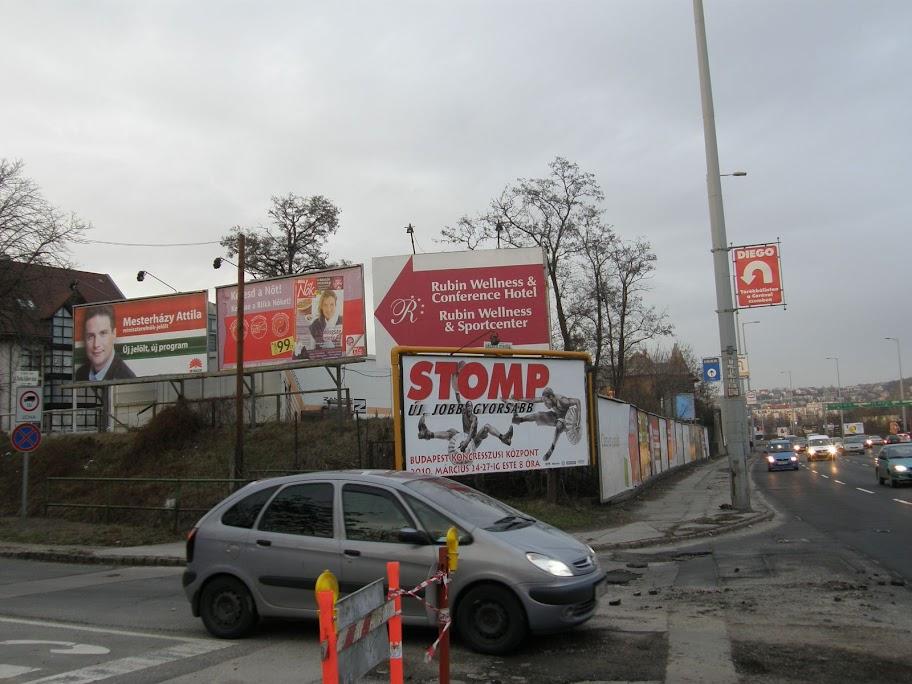 Budaörsi út, óriásplakátok, kifelé velük, Budapest, blog