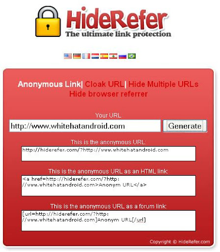 hide mask urls domains anchors and link anonymously hide http referrals
