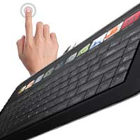 Microsoft Adaptive Keyboard Prototype with LCD Touch Screen, Visual Appearence and more kinect natal ps3