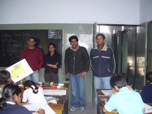 Anshal, Priya, Gourab & Rakesh were all smiles :)