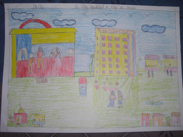 Grades 3,4,5 (Consolation Prize 5) - Junita Vishukarma (Class 4, Roll no. 11, Evening shift, My city)